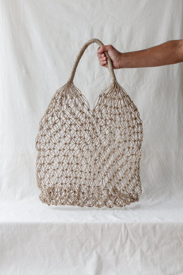 Knotted beach bag
