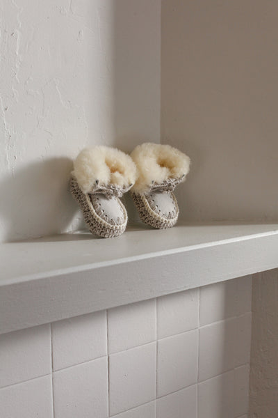 Sheepskin Baby Slippers | 9 - 12 months
