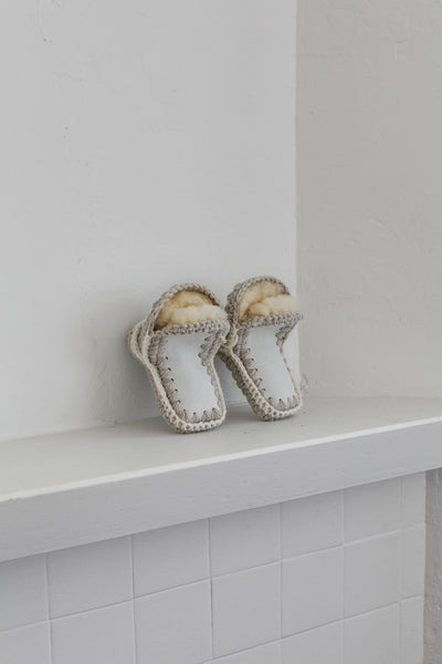 Traditional Sheepskin Slippers | Childs 2-3 years