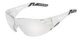 White frames with clear lens are ideal sports glasses