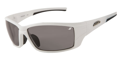 White frame Fashion Sunglasses - smoke lenses
