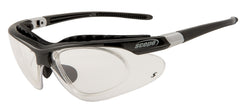 prescription cycling glasses with optional rx insert