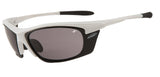 Motorcycle Glasses - White Frame &  Grey  Lenses