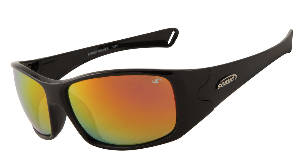 Polarized sunglasses with ruby red mirror lenses - ideal Golf glasses