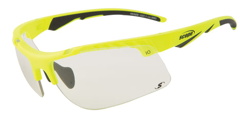 Sports Glasses - yellow frames and clear lens - shooting glasses