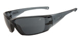 Light weight sports sunglasses with Grey lenses