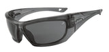 Sports Sunglasses - Black Gloss Frame with Polarized Lenses