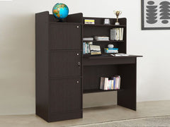 Alysson Engineered Wood Box Storage Queen Size Bed in Wenge Colour By HomeTown