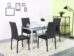 Homes Luzon Metal 4 Seater Dining Set