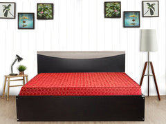Carol Engineered Wood Queen Size Bed + Dunlop Matress 60x78x4 (Combo Offer)
