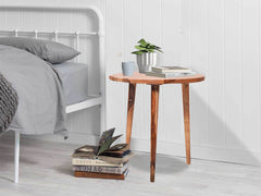 Robbins Tall Side Table in Teak Finish in Sheesham Wood