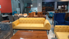 Karter Quilted Two Seater Sofa In Customize