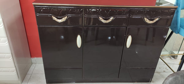 Raymond Storage Cabinet in High Glossy Brown Finish