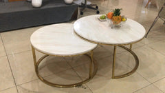 Sebastian Marble Round Nested Coffee Table
