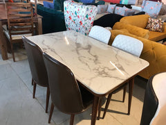 Arlesey For Seater Marble Dining