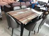 Viona Six Seater Marble Dining Table