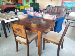 Anitz Solid Wood 4 Seater Dining Sold Wood