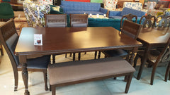 Rubber Wood 6 Seater Dining Set