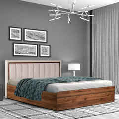 Straton Hydraulic Storage King Size Bed In Sheesham Wood