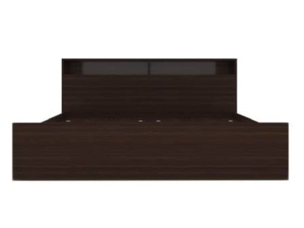 Alex Engineered Wood Queen Size Box Bed In Ozark Walnut GMC Express Beds fn-gmc-008457
