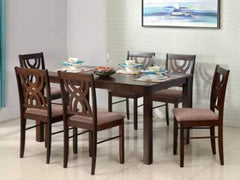 Alice Solid Wood 6 Seater Dining Set GMC Express Table FN-GMC-008434