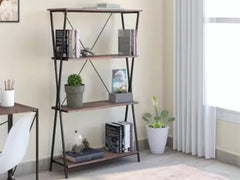 Perfect Homes Studio Chopstix 4 Tier Metal Open Book Shelf