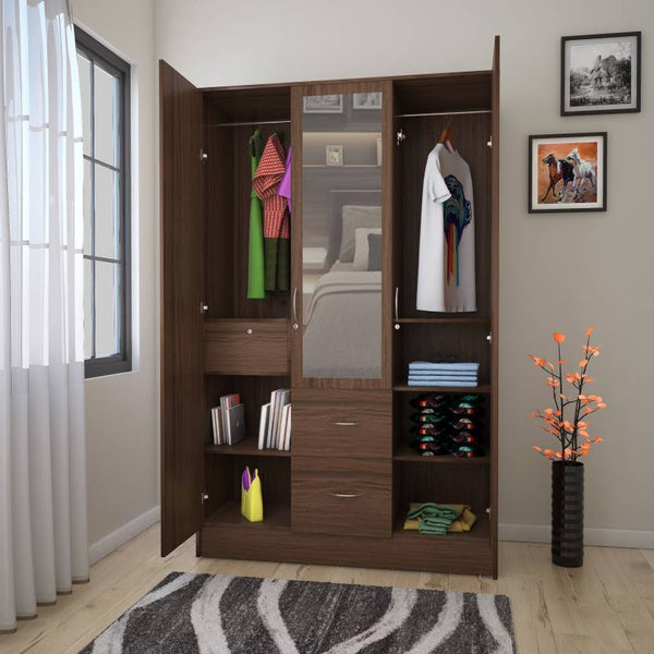 Andes Engineered Wood 3 Door Wardrobe GMC Standard Storage FN-GMC-006364