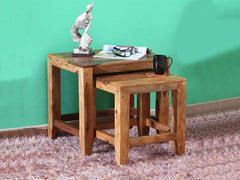 Anitz Solid Wood Nest of Tables in Warm Walnut Finish by Woodsworth GMC Express Table FN-GMC-008396