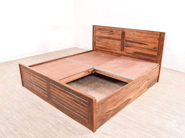 Arena King Size Bed In Teak Finish By WoodsWorth GMC Standard Beds FN-GMC-003436