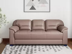 Muebles Casa Croma Leatherette 3 Seater Sofa
