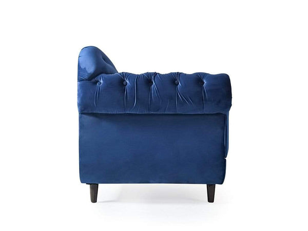 Chaise Lounge Sofa In  Blue Fabric GMC Express Sofa FN-GMC-008841