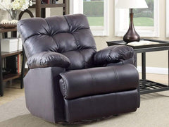 Chandler Rocker Recliner In Leatherette Upholstery GMC Standard Sofa FN-GMC-003575