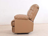 Chandler Rocker Recliner In Sand Brown Leatherette GMC Standard Sofa FN-GMC-003335