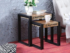 Coleman Solid Wood Nest of Tables with Metal Frame by Bohemiana GMC Express Table FN-GMC-008381