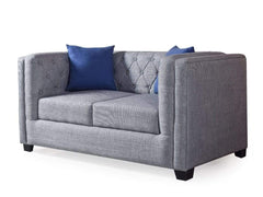 Conan Two Seater Sofa In Premium Blue Fabric GMC Express Sofa FN-GMC-008838