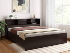 Crystal Furnitech Skyler Engineered Wood King Bed In Brown GMC Express Beds FN-GMC-008121