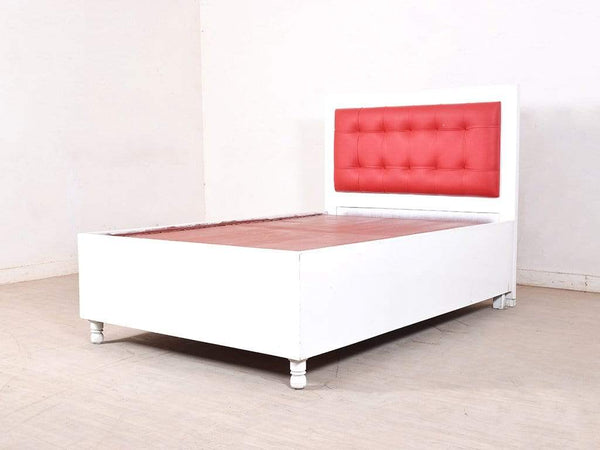 Dakota Mini Queen Bed With Storage In White GMC Standard Beds FN-GMC-004298
