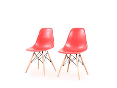 DSW Replica Chair In Red Color (Set of -2) By Urban Ladder GMC Express Chair FN-GMC-003573