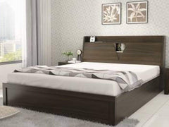 Duke Queen Size  Hydraulic Bed in Walnut Finsh By Spacewood GMC Express Beds FN-GMC-008320