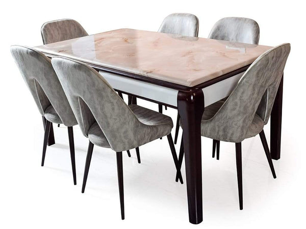 Edenia Six Seater Marble Dining Table Table