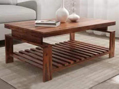Faren Coffee Table In Teak Finish GMC Express Table FN-GMC-008730