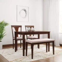 Fraser Solid Wood 4 Seater Dining Set GMC Express Table FN-GMC-008417