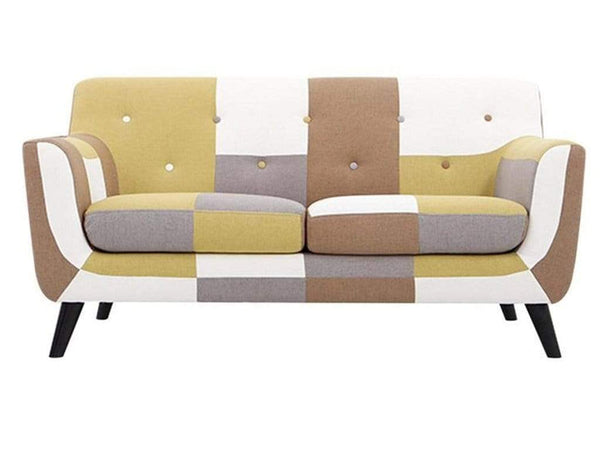 Frida 2 Seater Sofa in Yellow Multi Colour by CasaCraft GMC Express Sofa FN-GMC-008389