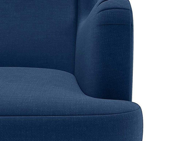 Genoa Wing Chair in Blue Velvet GMC Express Chair FN-GMC-008414