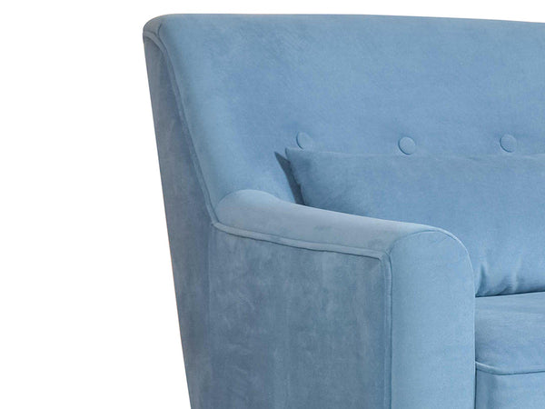 Hagen Lounge Chair in Premium Velvet Fabric