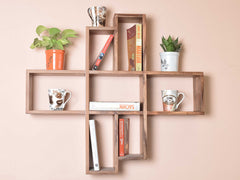 Hamlet Wall Shelf In Teak Finish
