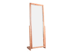 Sirius Standing Mirror In Teak Finish