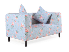 Janet Loveseat In Floral Cotton Fabric