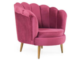 Velma Room Chair In Velvet Fabric