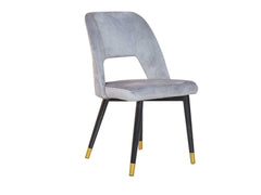 Neva Accent Chair In Grey Velvet Color